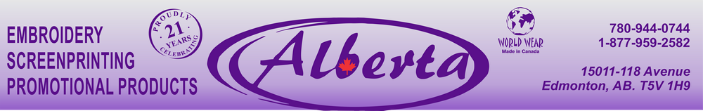 ALBERTA EMBROIDERY,SCREENPRINTING & PROMOTIONAL PRODUCTS